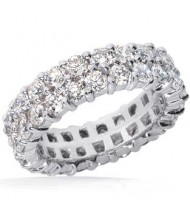 8 ct Round cut Diamond Eternity Band, Dubble Band, 0.25 ct each