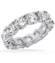 4.25 ct Round cut Diamond Eternity Wedding Band, 0.25 ct Each