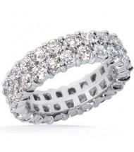 4.20 ct Round cut Diamond Eternity Wedding Band, 0.10 ct Each