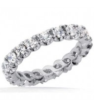 1.90 ct Round cut Diamond Eternity Wedding Band, 0.10 ct Each