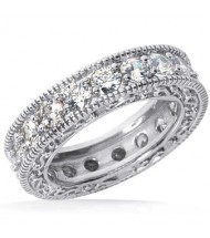 4.60 ct Round cut Diamond Eternity Band, Antuiqe Style, 0.23 ct