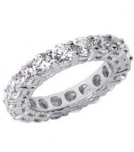 5.10 ct Round cut Diamond Eternity Wedding Band, 0.30 ct Each