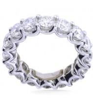 3.60 ct Round cut Diamond Eternity Wedding Band, U, 0.20 ct each
