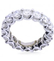 5.10 ct Round cut Diamond Eternity Wedding Band, U, 0.30 ct each