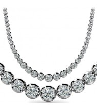7 ct Round Diamond Graduated Tennis Necklace 4 Prong, 16 Inch
