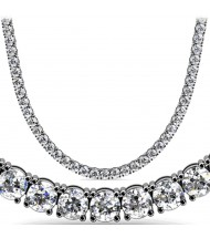 13.50 ct Round Diamond Tennis Necklace 4 Prong, 16 Inch