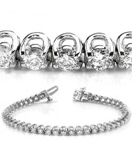 5 ct Round cut Diamond Tennis Bracelet, U Prong, 0.11 ct each