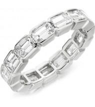 4.50 ct Emerald Cut Diamond Eternity Band, 0.25 ct Each, VS1