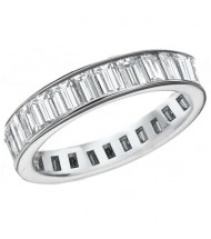 4.08 ct Straight Baguette Cut Diamond Eternity Band,  Channel