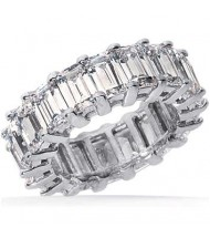 5.50 ct Emerald cut Diamond Eternity Wedding Band, 0.25 ct each