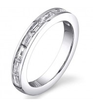 2.10 ct Straight Baguette Cut Diamond Eternity Band,  Channel