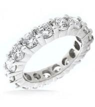 2.85 ct Round cut Diamond Eternity Wedding Band, 0.15 ct Each