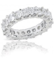 5.13 ct Princess cut Diamond Eternity U Band, 0.27 ct each